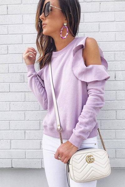 Rebecca Minkoff Gracie Sweatshirt + Crop Jeans | Stunning Summer Outfit Ideas to Inspire You