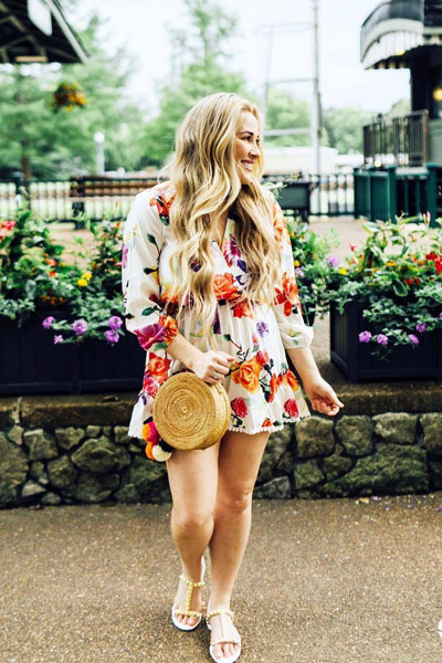 Floral Playsuit | 17 Stunning Summer Outfit Ideas to Inspire You