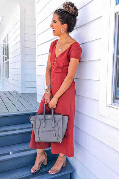 Romper Dress + Sam Edelman Sandals | Stunning Summer Outfit Ideas to Inspire You