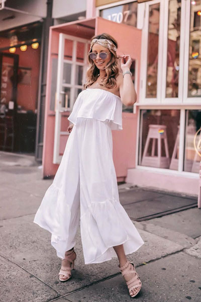 Isla jumpsuit in White | Lovely Summer Dresses Inspired by Fashion Influencers