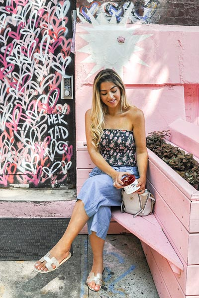 Crop Top in Floral Print + Wide Leg Palazzo Pants | 19 Classy Outfit Ideas To Finish This Summer With Style