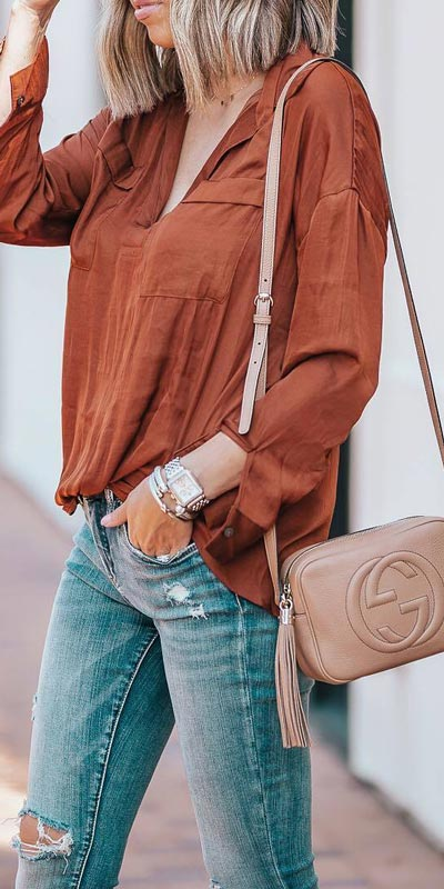 Pullover + Blacnknyc Jeans   15+ Trendy Street Style Outfits to Copy ASAP